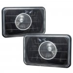 1987 Dodge Lancer 4 Inch Black Sealed Beam Projector Headlight Conversion