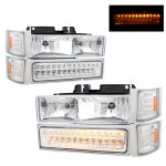 GMC Suburban 1994-1999 Headlights and LED Bumper Lights