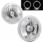 1989 Mitsubishi Montero Sealed Beam Headlight Conversion White Halo