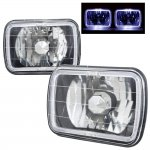 2000 Ford F250 Black 7 Inch Halo Sealed Beam Headlight Conversion