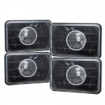 1986 Ford Thunderbird 4 Inch Black Sealed Beam Projector Headlight Conversion Low and High Beams