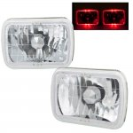 1993 Jeep Wrangler Red Halo Sealed Beam Headlight Conversion