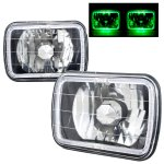 1990 GMC Sierra Green Halo Black Chrome Sealed Beam Headlight Conversion