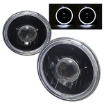 1977 Chevy Blazer Black Halo Sealed Beam Projector Headlight Conversion