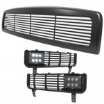 1997 Dodge Ram Black Grille and Bumper Grille with LED Fog Lights