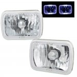 1993 Jeep Wrangler White Halo Sealed Beam Headlight Conversion
