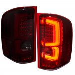 Chevy Silverado 2007-2013 Signature LED Tail Lights Red Smoked