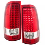 Chevy Silverado 2500 2003-2004 LED Tail Lights Red Clear