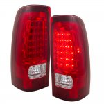 2002 Chevy Silverado 2500HD LED Tail Lights Red and Clear