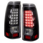 2002 Chevy Silverado 2500HD LED Tail Lights Black and Clear