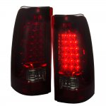 2002 Chevy Silverado 2500HD LED Tail Lights Red and Smoked