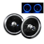 1978 Ford Mustang Blue Halo Black Sealed Beam Headlight Conversion