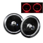 2002 Jeep Wrangler Red Halo Black Sealed Beam Headlight Conversion