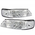 Nissan Maxima 1995-1999 Clear Euro Headlights and Corner Lights