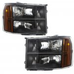 2009 GMC Sierra Black Euro Headlights