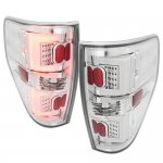 2010 Ford F150 Chrome LED Tail Lights Clear Tube