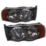 Dodge Ram 2500 2003-2005 Smoked Euro Headlights