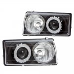 Chevy Corvette C5 1997-2004 Black Projector Headlights