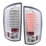 2008 Dodge Ram LED Tail Lights Chrome Clear