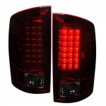 2009 Dodge Ram 2500 LED Tail Lights Red Smoked