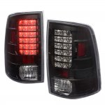 2009 Dodge Ram LED Tail Lights Black