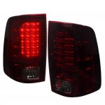 Dodge Ram 2009-2015 LED Tail Lights Red Smoked