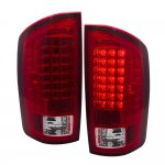 2002 Dodge Ram LED Tail Lights Red Clear