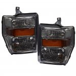 2010 Ford F450 Super Duty Smoked Headlights