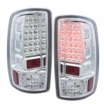 2005 GMC Suburban LED Tail Lights Chrome Clear