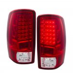 GMC Suburban 2000-2006 LED Tail Lights Red Clear