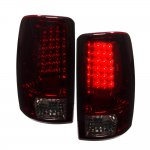 GMC Suburban 2000-2006 LED Tail Lights Red Smoked