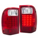 2001 Ford Ranger LED Tail Lights Red Clear