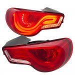 Scion FRS 2013-2015 JDM LED Tail Lights Red Clear