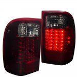2001 Ford Ranger LED Tail Lights Red Smoked