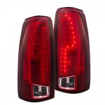 Chevy Tahoe 1995-1999 LED Tail Lights Red Clear