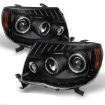 2010 Toyota Tacoma Black Halo Projector Headlights LED DRL