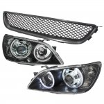 Lexus IS300 2001-2005 Black Grille and Projector Headlights Halo LED