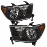 2013 Toyota Tundra Black Euro Headlights