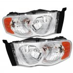 2002 Dodge Ram Chrome Headlights