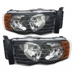 Dodge Ram 2500 2003-2005 Black Headlights
