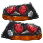 Mitsubishi Lancer Evolution 2003-2006 Depo JDM Black Altezza Tail Lights