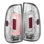 2002 Ford F250 Super Duty LED Tail Lights Chrome Clear
