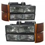 1998 Chevy 3500 Pickup Smoked Headlights Bumper Lights Side Marker Lights