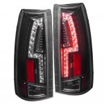 1998 Chevy 3500 Pickup Black Custom LED Tail Lights