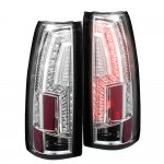 1993 Chevy 1500 Pickup Chrome Custom LED Tail Lights