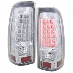 2003 GMC Sierra LED Tail Lights Chrome Clear
