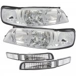 Nissan Maxima 1995-1999 Clear JDM R34 Style Headlights Bumper Lights