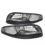 Chevy Corvette C5 1997-2004 Black Clear Corner Parking Lights