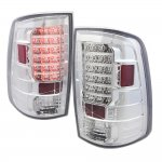 Dodge Ram 2009-2015 LED Tail Lights Chrome Clear