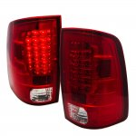 2012 Dodge Ram LED Tail Lights Red Clear